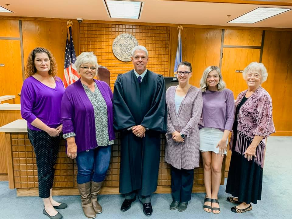Carolyn Hussman, Carie Stroud, Chelsae Blackowl, Detective David Craig, Stacy Horner, Judge Gass, and Jamie McGlothlin