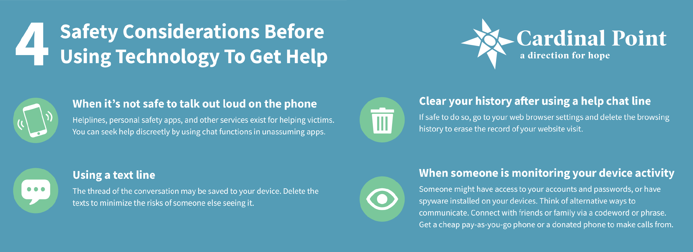 safety considerations before using technology to get help