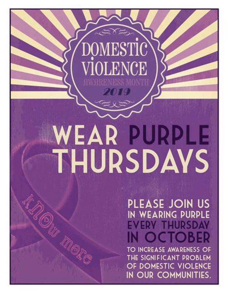 Wear Purple Thursdays Domestic Violence Awareness Month